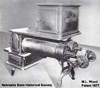Another type of hay-burning stove.